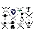 Baseball equipments set vector image vector image