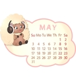 beautiful calendar vector image vector image