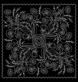 black and white bandana vector image vector image