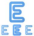 Blue line e logo design set vector image vector image