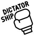 boxing glove with dictatorship text icon protest vector image