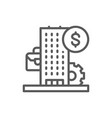 business center bank financial institution line vector image