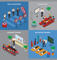 business coaching isometric concept vector image