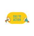 call to action megaphone with bubble speech vector image vector image