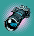camera with telephoto lens vector image vector image