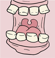 cartoon open mouth vector image vector image