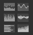 charts with business information colorless set vector image vector image