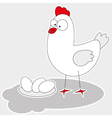 chicken with eggs vector image
