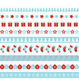 christmas borders seamless ornament vector image vector image
