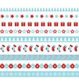 christmas borders seamless ornament vector image