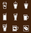 Coffee drinks icons collection vector image