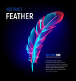 colorful feather or fluffy plumelet with abstract vector image