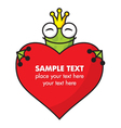 Cute Frog prince with heart vector image vector image