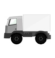 Delivery car grey vector image