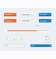 design ui kit for webdesign vector image vector image