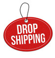 drop shipping label or price tag vector image