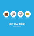flat icon gain set of cash scan chart and other vector image vector image