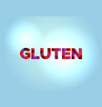 gluten concept colorful word art vector image