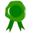 green blank seal vector image vector image