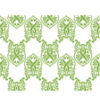 green ecology damascus seamless pattern background vector image vector image