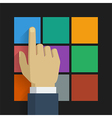 Hand click icon 001 vector image