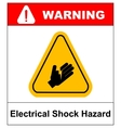 high voltage sign or electrical safety sign danger vector image vector image