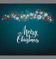 holiday blue christmas card vector image vector image