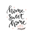 Home sweet home hand drawn lettering card vector image vector image