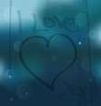 I Love you on a wet window vector image vector image