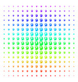 intellect bulb icon halftone spectrum pattern vector image