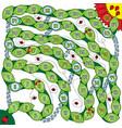 ladybug game vector image