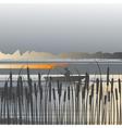 landscape fisherman vector image vector image
