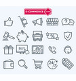lines icons set e-commerce shopping vector image vector image