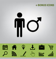male sign black icon at gray vector image vector image