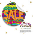 merry christmas sale background with creative vector image vector image