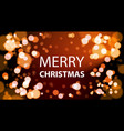 merry christrmas card design with white lights vector image