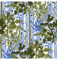 mixed forest landscape fir trees birch trees vector image