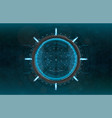 modern aiming system vector image vector image