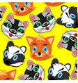 mugs of the wildlifes of the racoonfoxes and vector image vector image
