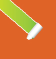 oblique tearing paper vector image vector image