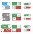 on and off switch buttons vector image