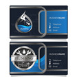 plumbing repair business card concept vector image vector image