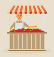 Produce shop keeper fruit and vegetables retail