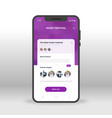 purple music festival ui ux gui screen for mobile vector image vector image