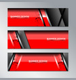 red banner template modern design vector image vector image
