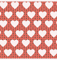 retro seamless pattern pastel hearts and dots vector image