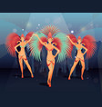 rio carnival party vector image vector image