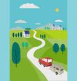 roadway travel vector image vector image