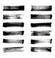 set of black ink vector image vector image