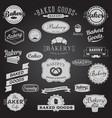 set vintage bakery badges labels logo vector image